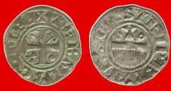 """denaro di Provins (contea di Champagne) """"provisino"""" del XII secolo"""
