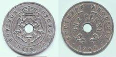 penny Rhodesia meridionale Giorgio VI imp.