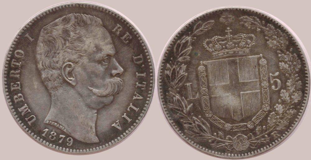 Regno d'Italia - Umberto I - scudo o 5 lire