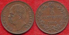 Regno d'Italia - Umberto I - 5 centesimi di lira