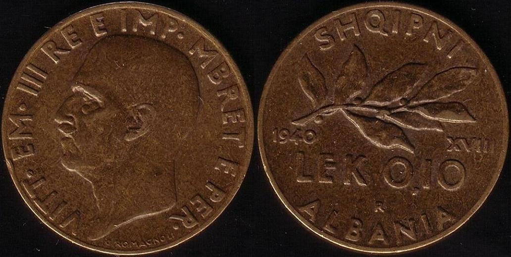 0,10 Lek - 1940 XVIII