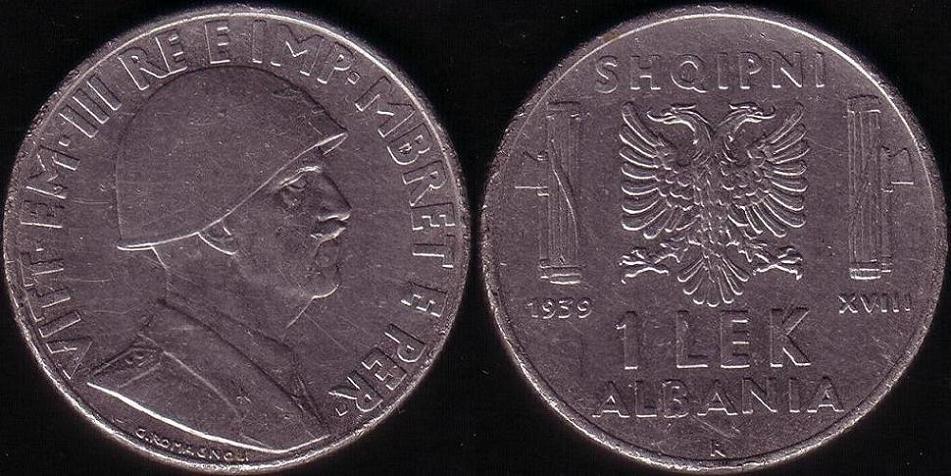 1 Lek - 1939 XVIII
