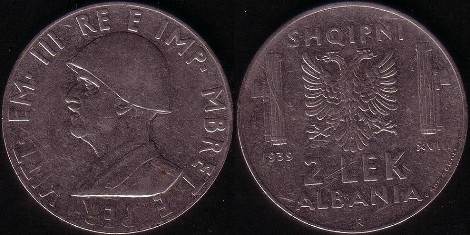 2 Lek - 1939 XVIII