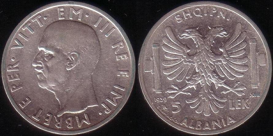 5 Lek - 1939