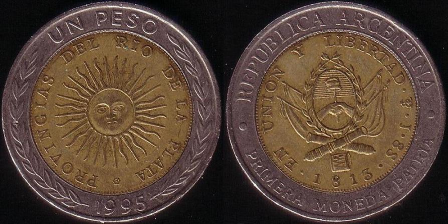 1 Peso – 1995 – Provingias