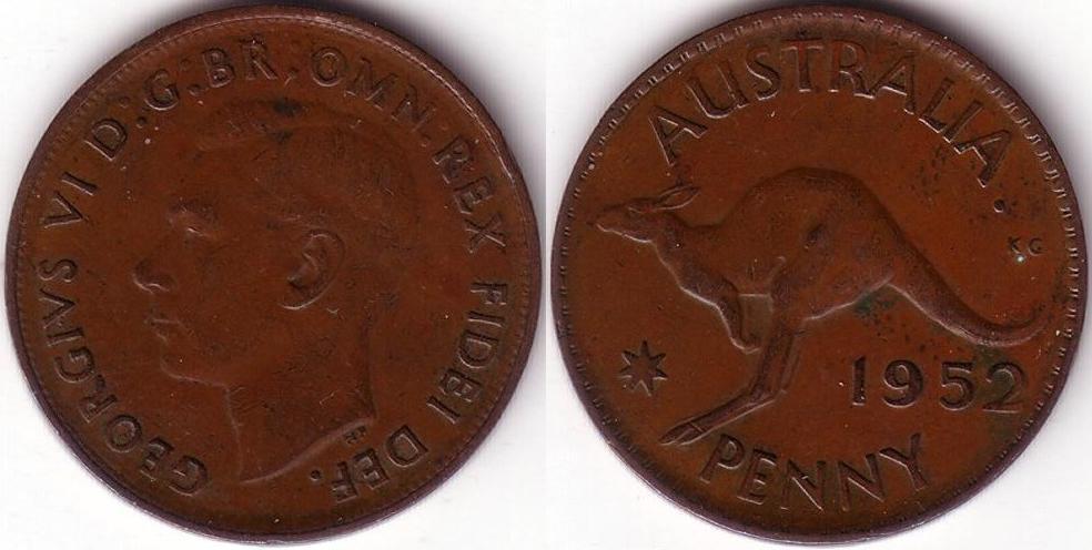 1 Penny – 1952 – Perth