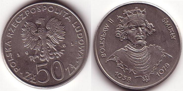 50 Zlotych - 1981 - Boleslao II