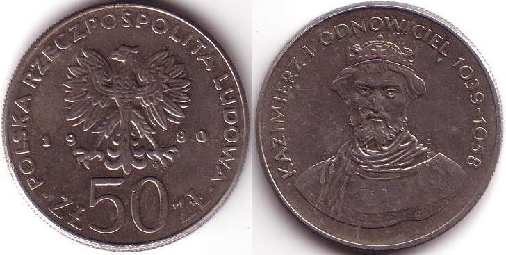 50 Zlotych - 1980 - Casimiro I