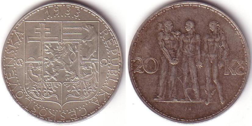 Repubblica Cecoslovacca - 20 Korun - 1933