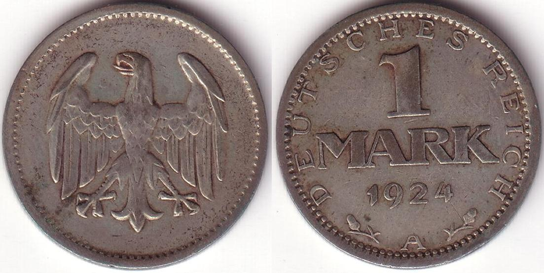 Germania – 1 Mark – 1924 A