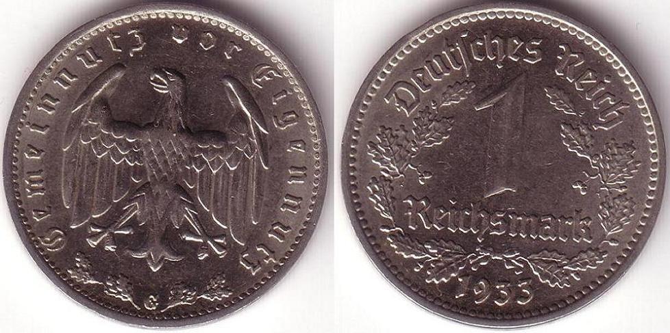 Germania – 1 Reichsmark – 1933 G