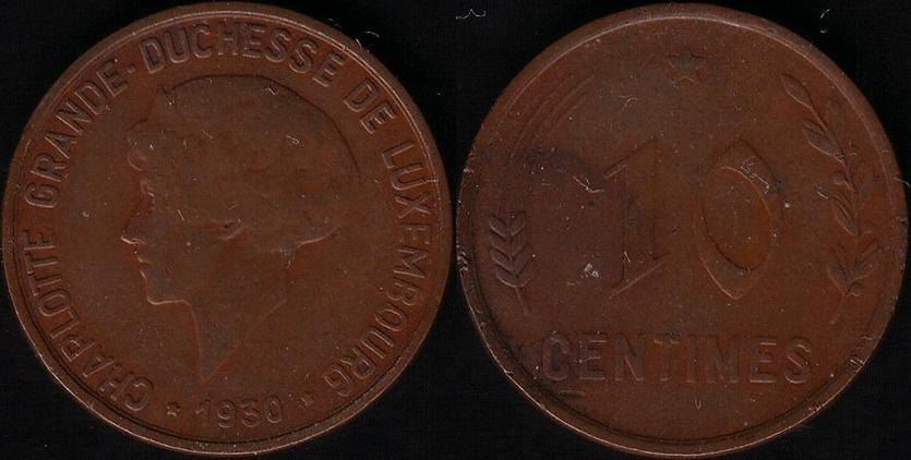 Lussemburgo – 10 Centimes – 1930