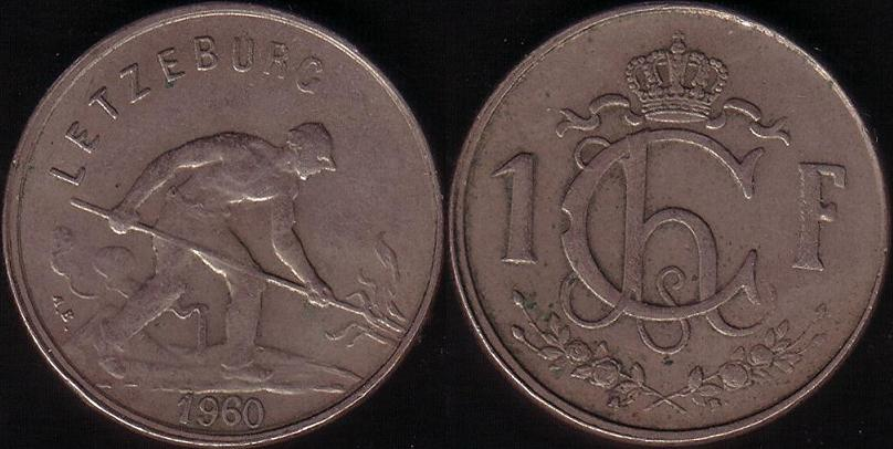 Lussemburgo – 1 Franc - 1960