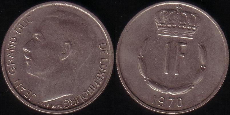 Lussemburgo – 1 Franc - 1970