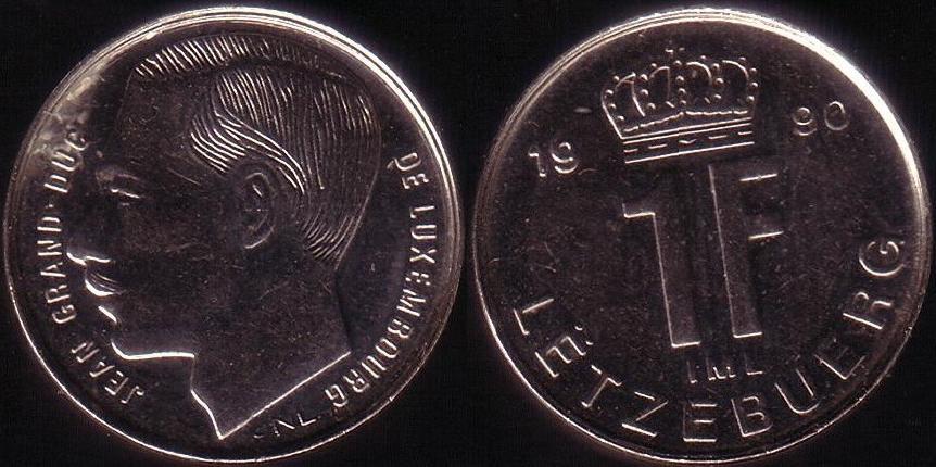 Lussemburgo – 1 Franc - 1990