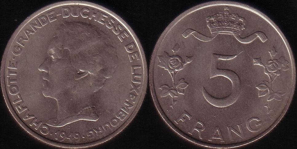 Lussemburgo – 5 Franc - 1949