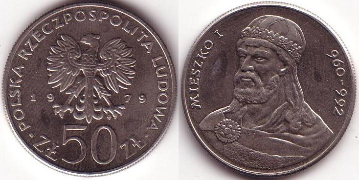50 Zlotych - 1979 - Mieszko I