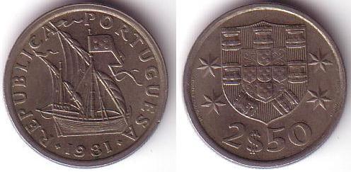 2,5 Escudos - 1981