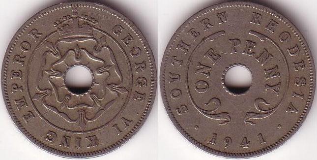 Rhodesia - 1 Penny - 1941