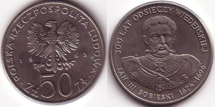 50 Zlotych - 1983 - Sobieski