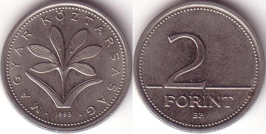 Ungheria - 2 Forint – 1993