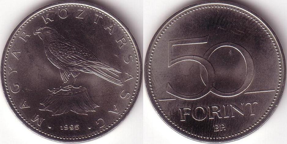 Ungheria - 50 Forint – 1995