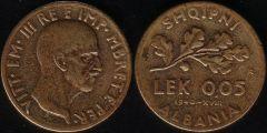 0,05 Lek - 1940 XVIII