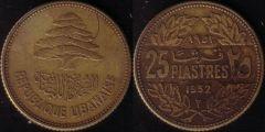 Libano – 25 Piastre – 1952