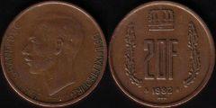 Lussemburgo – 20 Franc - 1982
