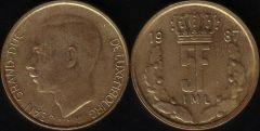 Lussemburgo – 5 Francs - 1987