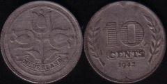 Paesi Bassi – 10 Cents – 1942