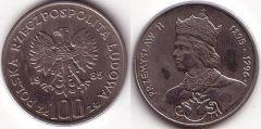 100 Zlotych - 1985 - Przemislao II
