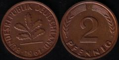 2 Pfennig - 1961