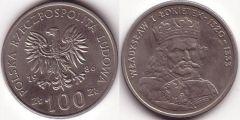 100 Zlotych - 1986 - Ladislao I Lokietek