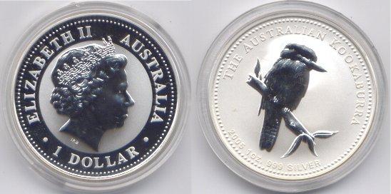 1 dollaro argento 2005