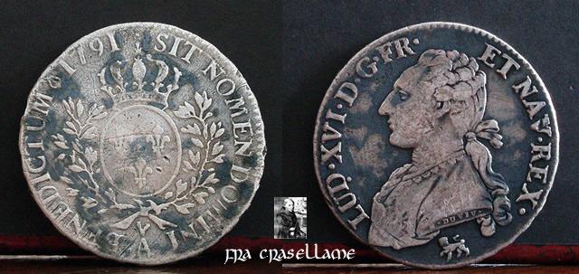 """Mezzo scudo detto """"ai rami d'olivo"""" - 1791"""