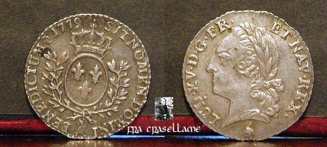 """Ventesimo di scudo detto """"ai rami d'olivo"""" - in nome di Luigi XV - 1779"""