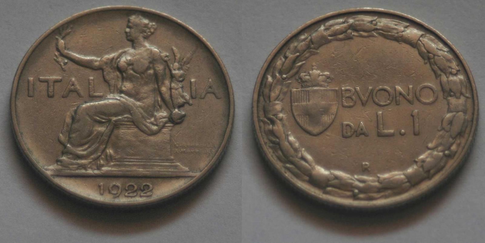 Buono 1 Lira Italia Seduta, Vittorio Emanuele III