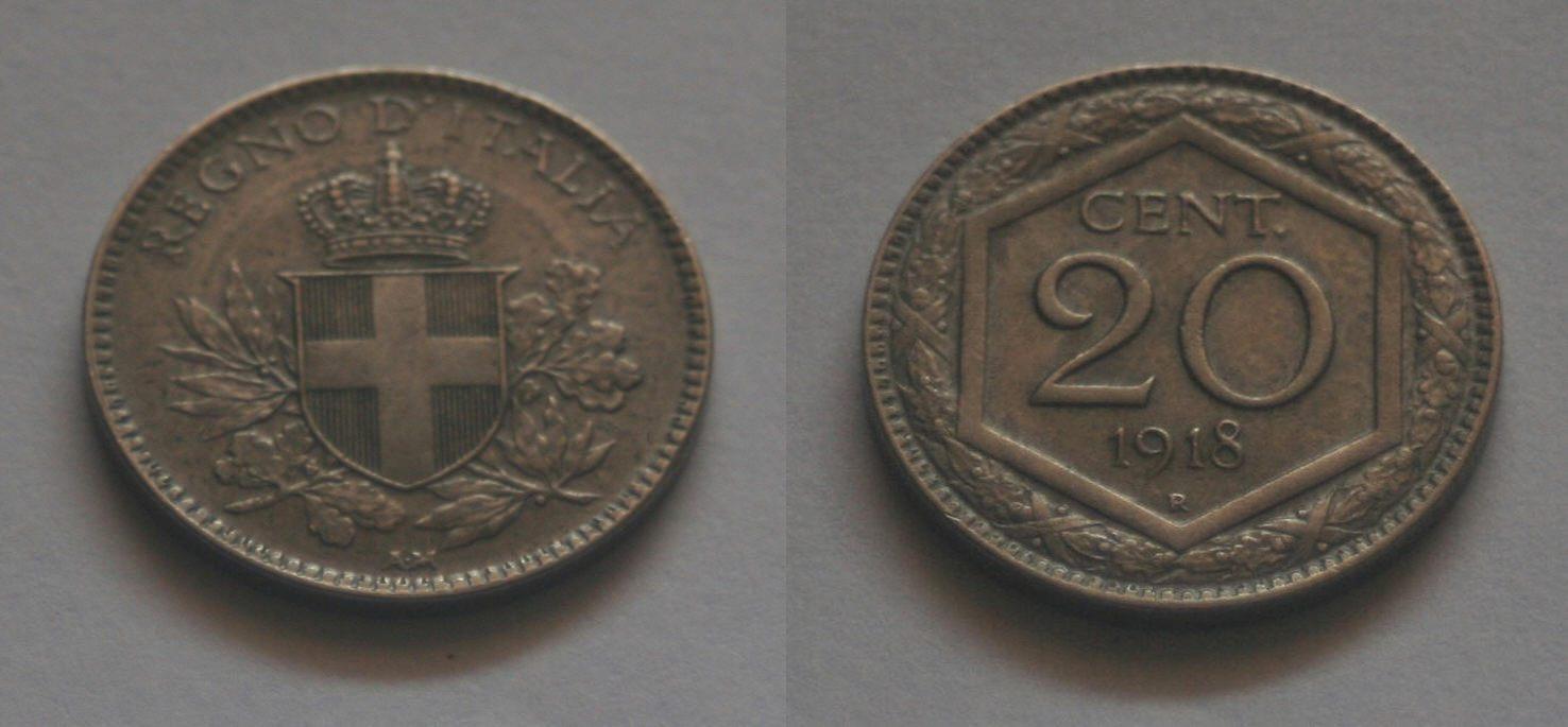 20 Centesimi Esagono, Vittorio Emanuele III