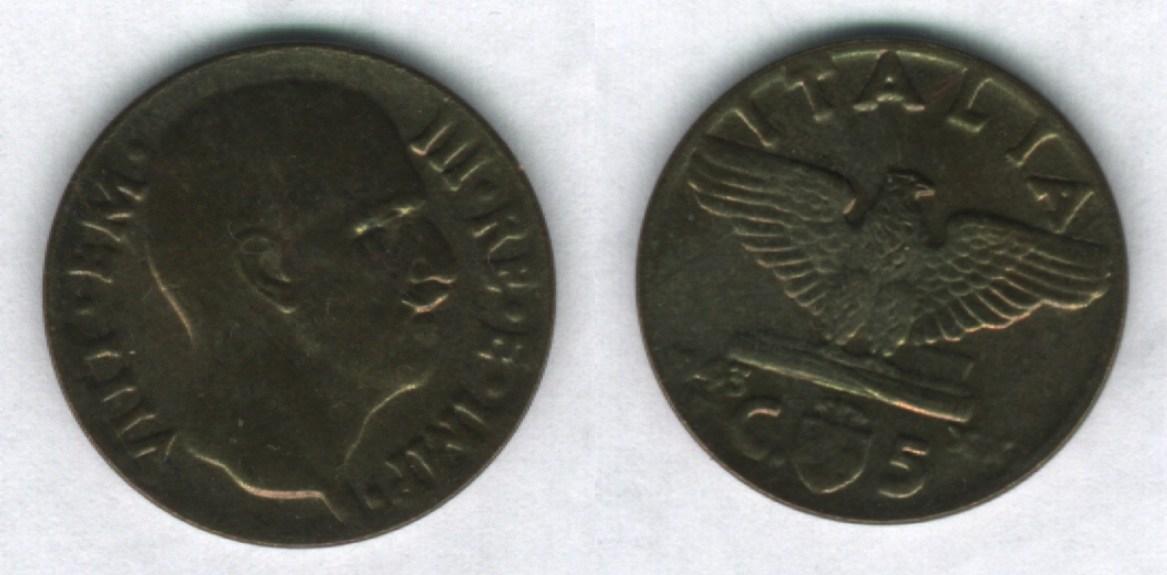 5 centesimi Impero del 2° tipo