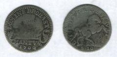 Mezza Lira da 10 Soldi 1702, Ferdinando Carlo Gonzaga