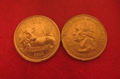 Stati Uniti d'America Quarter Dollar 2004 Wisconsin