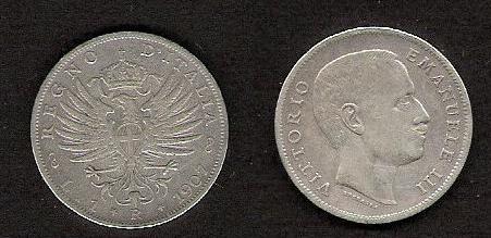 1 Lira Aquila sabada 1907