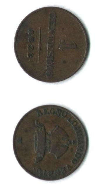 1 centesimo 1822, Francesco I° d'Asburgo-Lorena