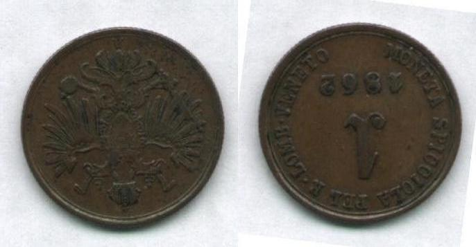 1 Soldo 1862, Francesco Giuseppe I° d'Asburgo-Lorena