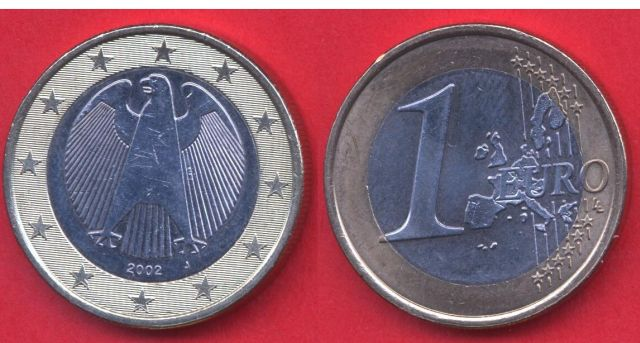 Germania 1 Euro 2002 - 2006