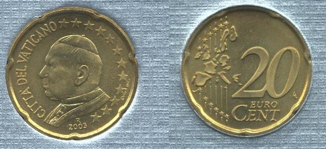 Vaticano 20 cent 2002-2005