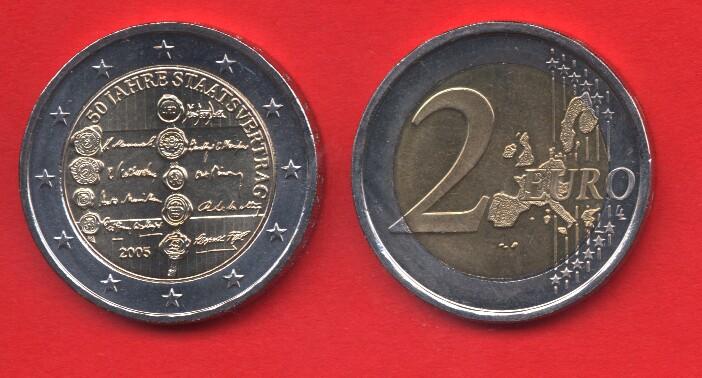 2 Euro Commemorativo 2005 Austria