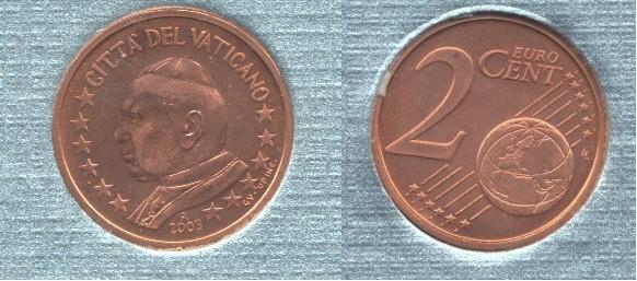 Vaticano 2 cent 2002-2005