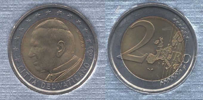 Vaticano 2 Euro 2002-2005